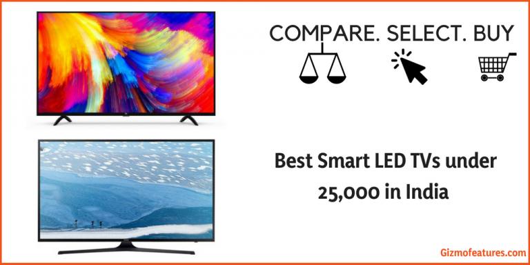 Best Smart TV under 25,000 in India | August 2019 | Gizmofeatures